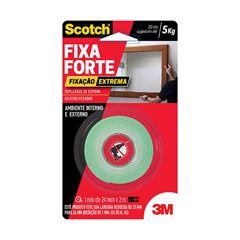 Fita Adesiva Fixa Forte Fixação Extrema Scotch 3M 24mmx2m