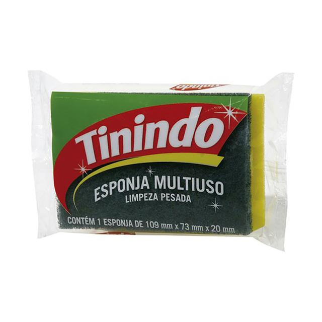 Esponja Multiuso Tinindo Limpeza Pesada com 1 unidade