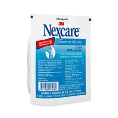 Gaze Estéril Nexcare 3M com 5 unidades