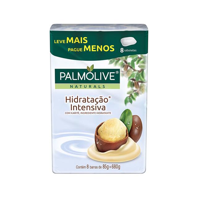 Sabonete Barra Palmolive Naturals Hidratação Intensiva 85g 8 und