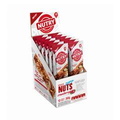 Barra Nuts Zero Nutry Cranberry 22g - Display com 12 und