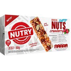 Barra Nuts Zero Nutry Cranberry 30g com 2 und