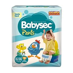 Fralda Babysec Pants XG/XXG com 16 tiras