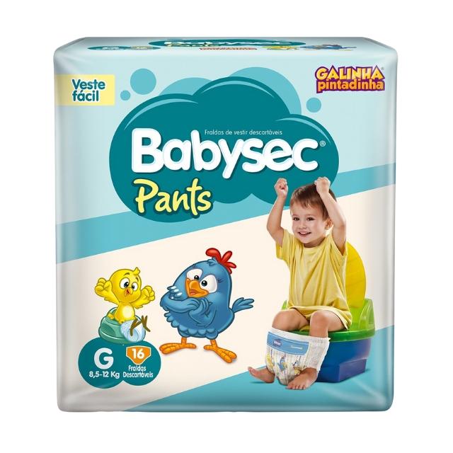 Fralda Babysec Pants Tamanho G com 16 tiras
