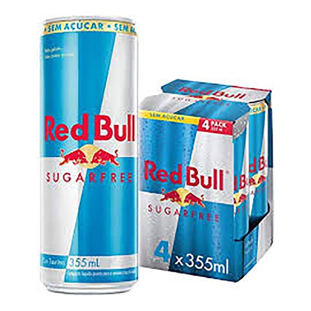 Energético Red Bull Sugar Free Pack com 4 Latas de 355ml