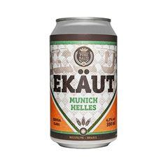 Cerveja Ekaut Munich Helles lata 350ml