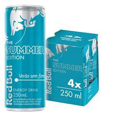 Energético Red Bull - Summer Azure Edition Pack com 4 Latas de 250ml