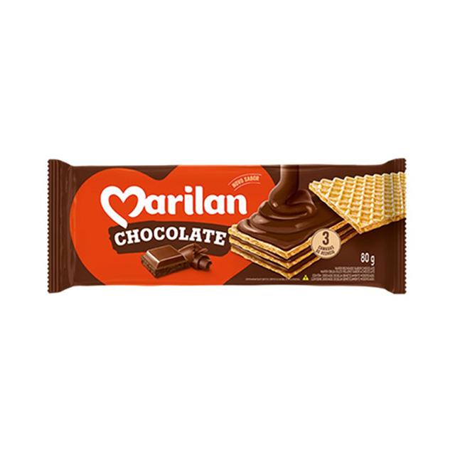 Biscoito Marilan Wafer Chocolate 80g