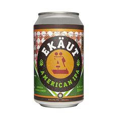 Cerveja Ekaut American IPA lata 350ml