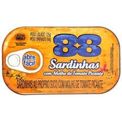 SARDINHA 88 TOMATE PICANTE 125G