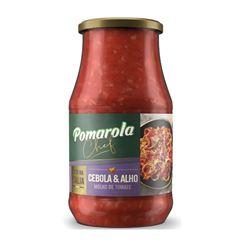 Molho de Tomate Pomarola Cebola/alho Vidro 420gr