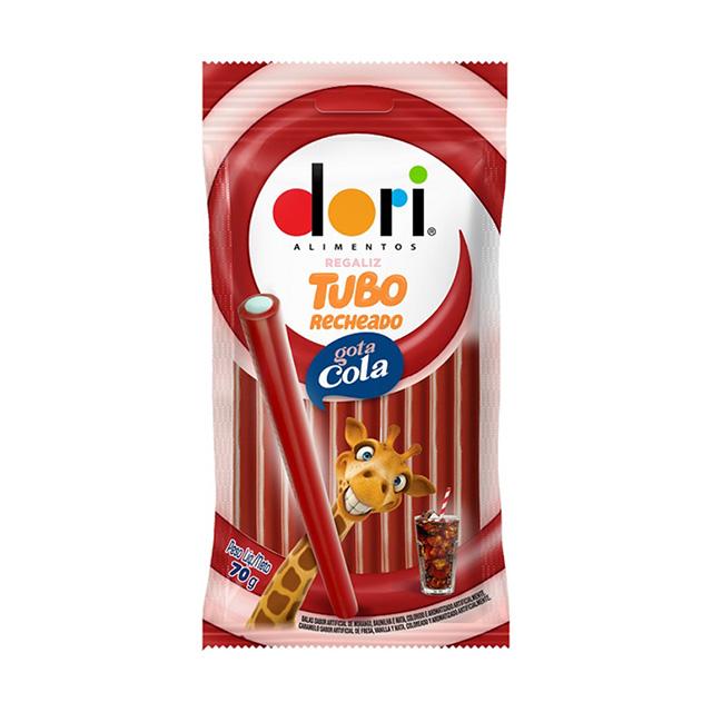 Dori Regaliz Tubo Recheado G. Cola Acida 17gr