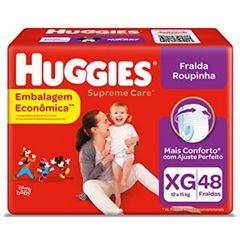 Fralda Huggies Roupinha Supreme Care Hiper Tamanho XG com 48 Tiras