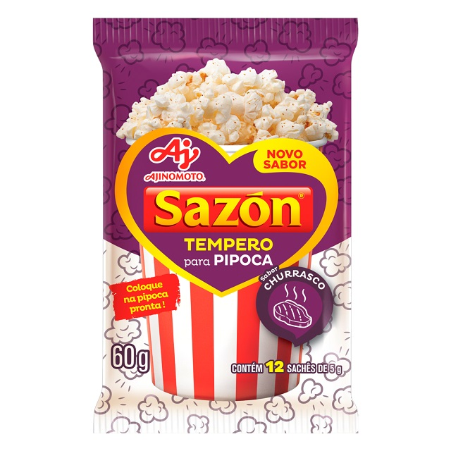 Tempero Sazon Pipoca Churrasco 60g