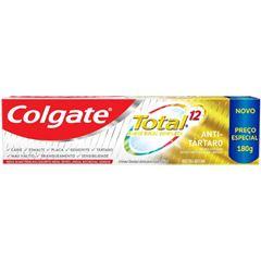 Creme Dental Colgate Total 12 Anti Tartaro 180g