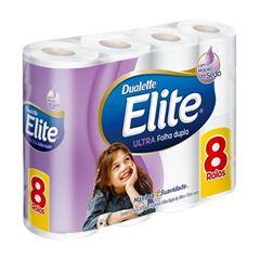 Papel Higiênico Elite Folha Dupla 30m com 8 unidades