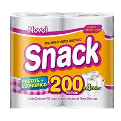 Toalha Snack Folha Dupla 100 folhas com 2 und
