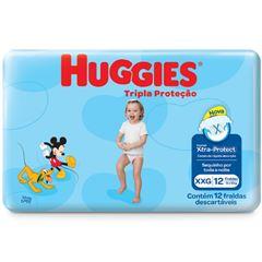 Fralda Huggies Tripla Proteção Jumbinho Tamanho XXG com 12 Tiras