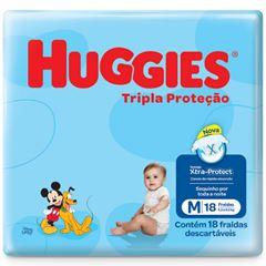 Fralda Huggies Tripla Proteção Xtra-Protect Jumbinho Tamanho M com 18 Tiras