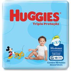 Fralda Huggies Tripla Proteção Jumbinho Tamanho G com 18 Tiras