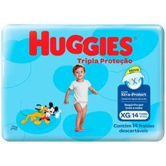 Fralda Huggies Tripla Proteção Xtra-Protect Jumbinho Tamanho XG com 14 Tiras