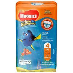 Fralda Huggies Little Swimmers Swuin Pants M com 11 unidades
