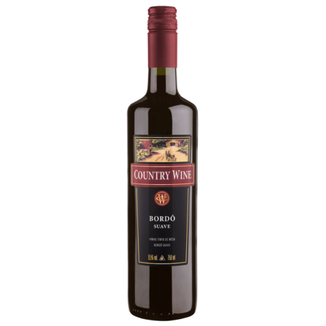 Vinho Country Wine Suave Bordo 750ml