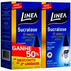 Adoçante Linea Liquido Sucralose 75ml desconto 50% na 2ª unidade