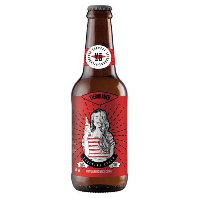 Cerveja Vierbrauer Severina Lager 500ml