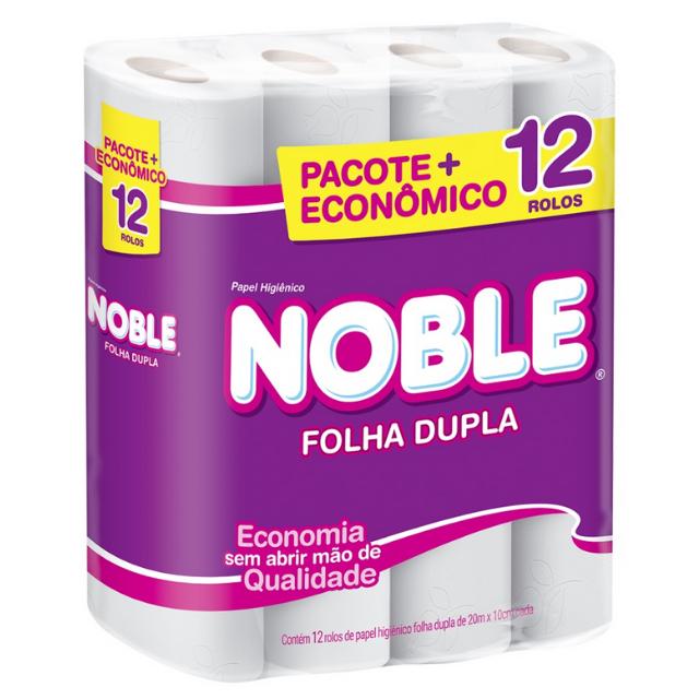 Papel Higienico Noble Folha Dupla  20 metros com 12 rolos