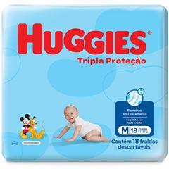 Fralda Huggies Tripla Proteção Regular Jumbinho Tamanho M com 18 Tiras