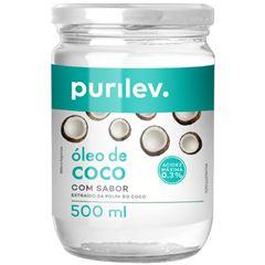 Oleo de Coco Purilev com Sabor 500gr