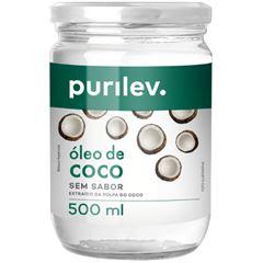 Oleo de Coco Purilev sem Sabor 500gr