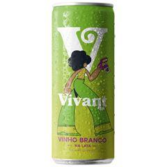 Vinho Vivant Branco Lata Pack c/4