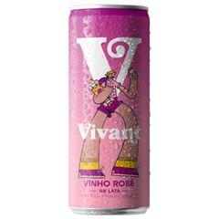 Vinho Vivant Rose Lata Pack c/4