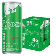 Energético Red Bull Energy Drink Pitaya Pack com 4 Latas de 250ml