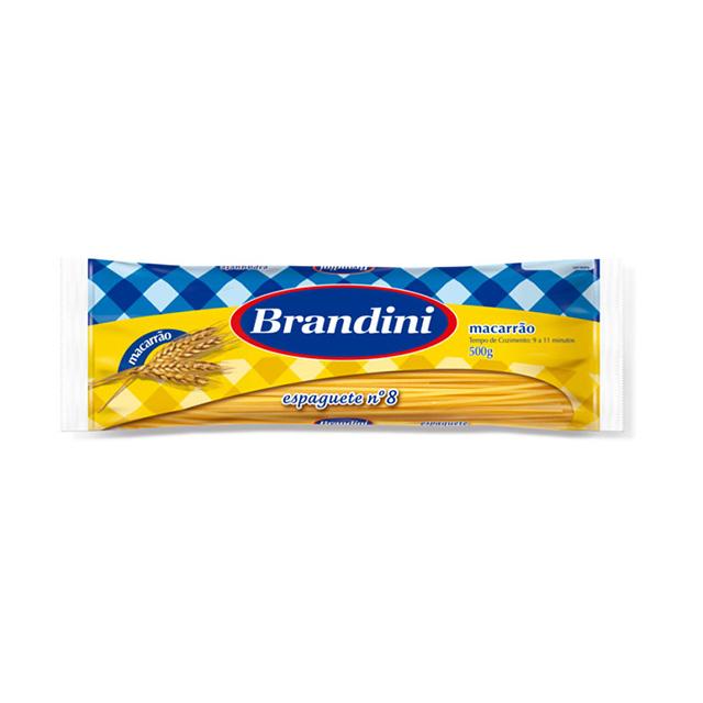 Macarrao Espaguete Brandini Comun n°8 500g