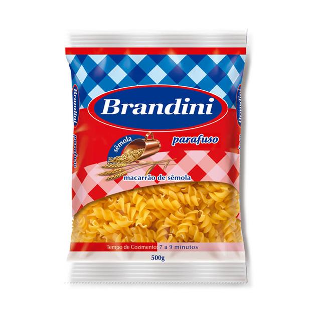 Macarrao Brandini Parafuso Semola 500g