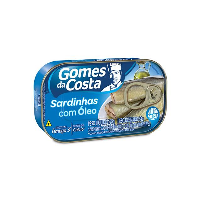 Sardinhas com Óleo Gomes da Costa 125g