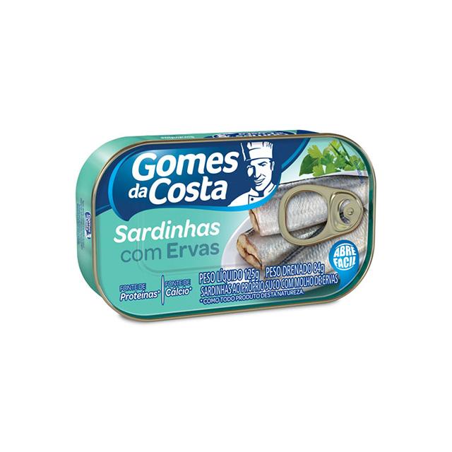 Sardinhas com Ervas Gomes da Costa 125g