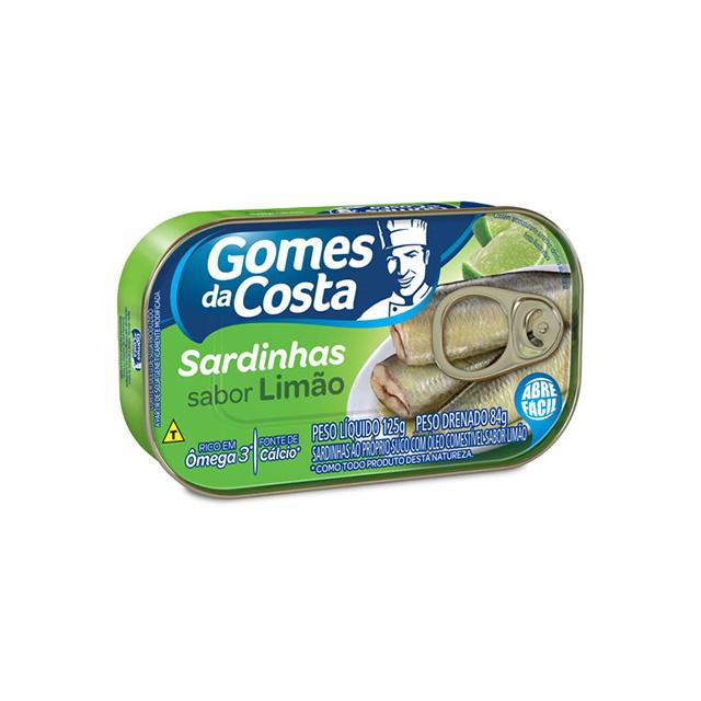Sardinhas Sabor Limão Gomes da Costa 125g