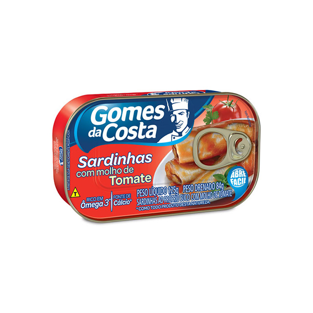 Sardinhas com Molho de Tomate Gomes da Costa 125g