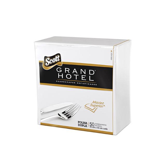 Guardanapos Scott Grand Hotel Folha Dupla com 50 folhas 33x33cm