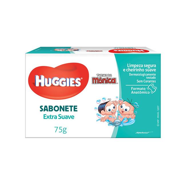 Sabonete Barra Huggies Turma da Monica Extra Suave 75g