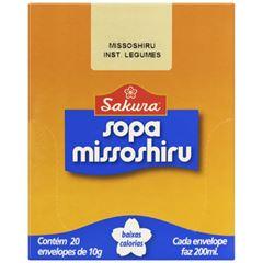 Sopa de Soja Legumes Missôshiru 10g