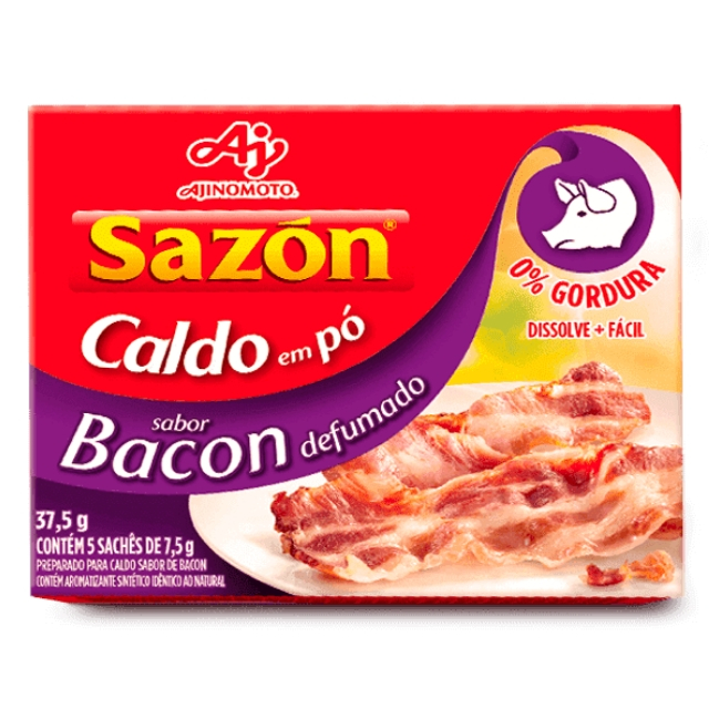 Caldo Sazon Bacon Defumado 37,5g