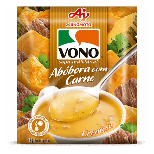 Sopa Vono Abóbora com Carne 17g