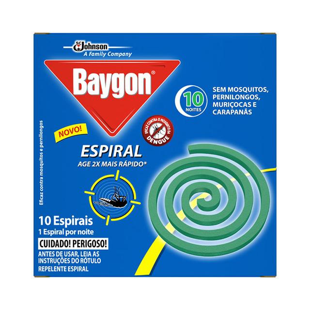 Repelente Baygon Espiral Metal com 10 und
