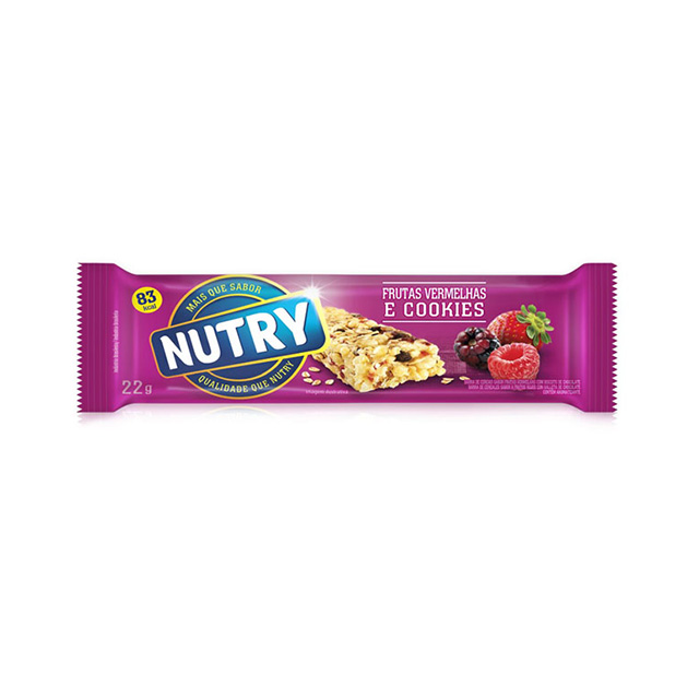 Barra de Cereal Nutry Frutas Vermelhas 22g - Display com 24 und