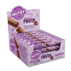 Barra de Fruta Nutry Ameixa com Chocolate 20g - Display com 24 und